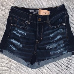 NWT AE high-rise shorts